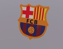 Barcelona Logo Football Club 3D Model