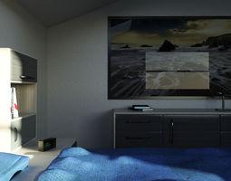 Mr Bedroom 01 3D Model