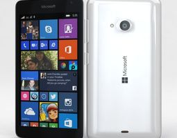 Microsoft Lumia 535 and Dual SIM White 3D Model