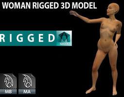 Woman  Rigged 3D Model 3D Model