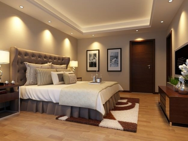 3d bedroom or hotel room 02 cgtrader for Model bedroom interior design