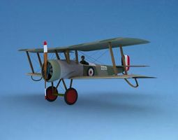 3d model rigged bristol scout toy plane