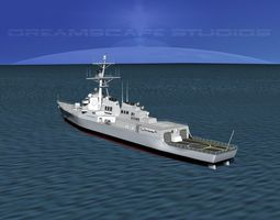 3d burke class destroyer ddg 96 uss bainbridge rigged