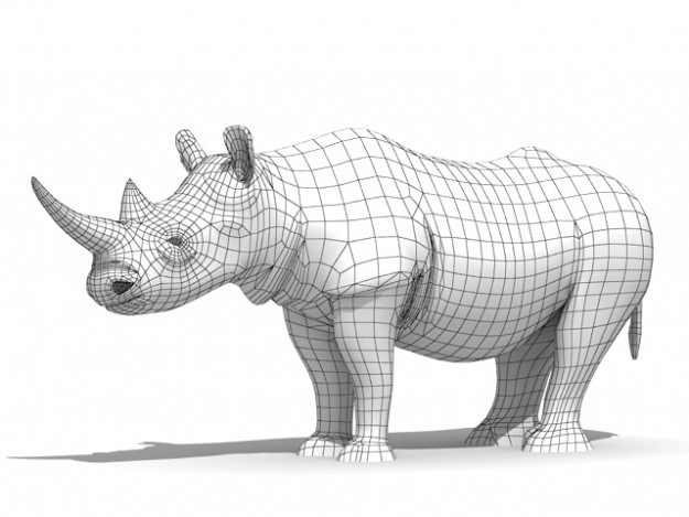 rhinoceros 3d model  max  obj  3ds  fbx  c4d