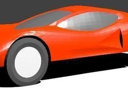 Pinewood Derby Car Shell 3D print model