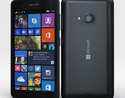 Microsoft Lumia 535 and Dual SIM Black 3D model