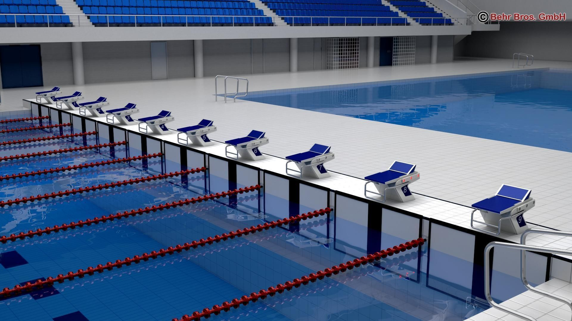Swim Stadium 3d Model Max Obj 3ds Fbx C4d Lwo Lw Lws