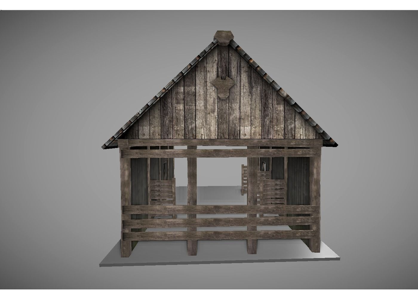 3d Model Low Poly Medieval House 2 Vr Ar Low Poly Obj