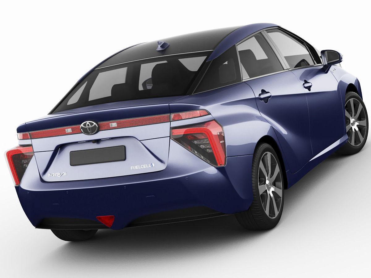Toyota Mirai 2015 3D Model MAX OBJ 3DS FBX C4D LWO LW LWS