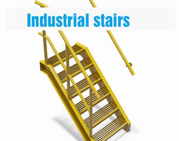 factory stairs - parametric 3d model