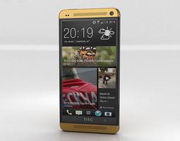 htc one gold edition 3d model max obj 3ds fbx c4d lwo lw lws