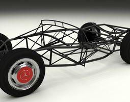 Mercedes 300SL Chasis 3D Model