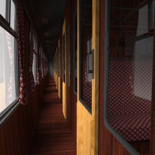 train carriage and interior3D model