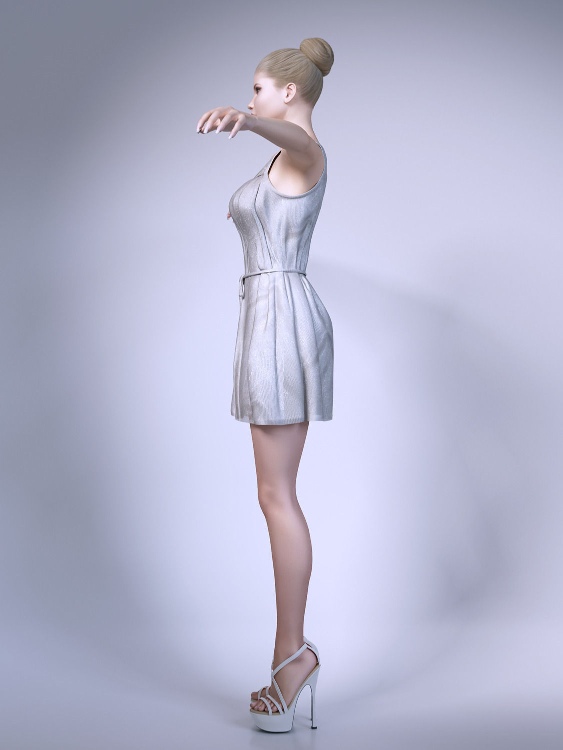 3d Models For Poser And Daz Studio: Girl Wearing Summer Dresses 3D Model MAX OBJ FBX MTL