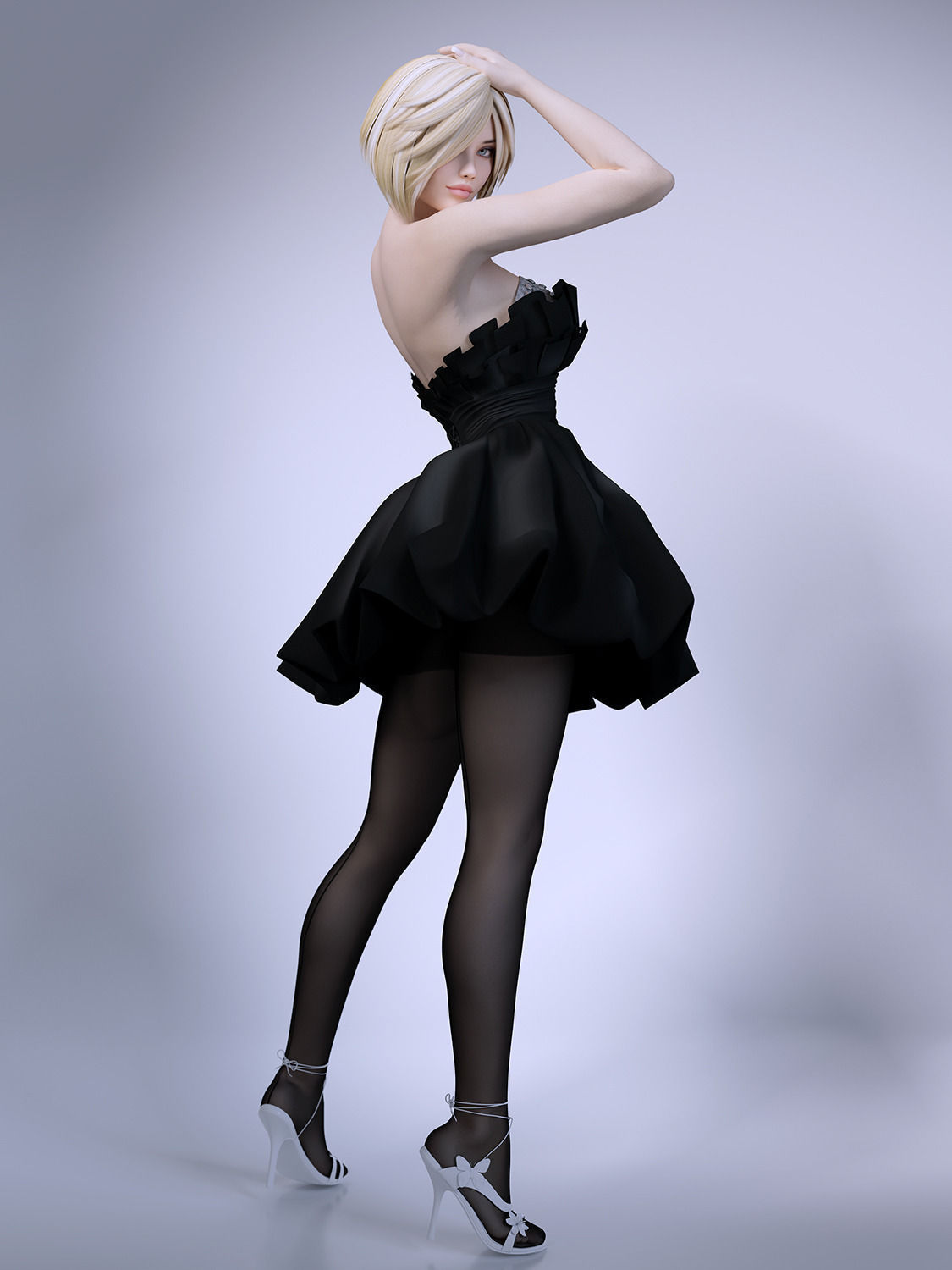 3d girl skirt stockings | cgtrader