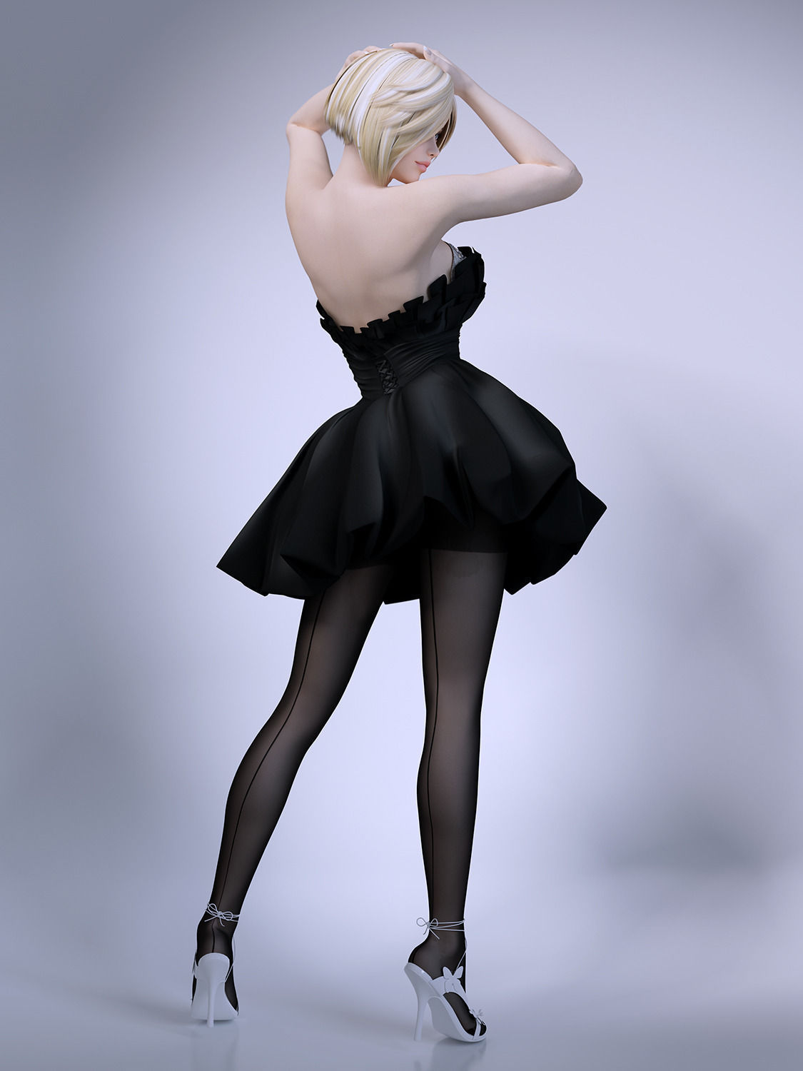 3d Models For Poser And Daz Studio: Girl Skirt Stockings 3D Model .max .obj .fbx