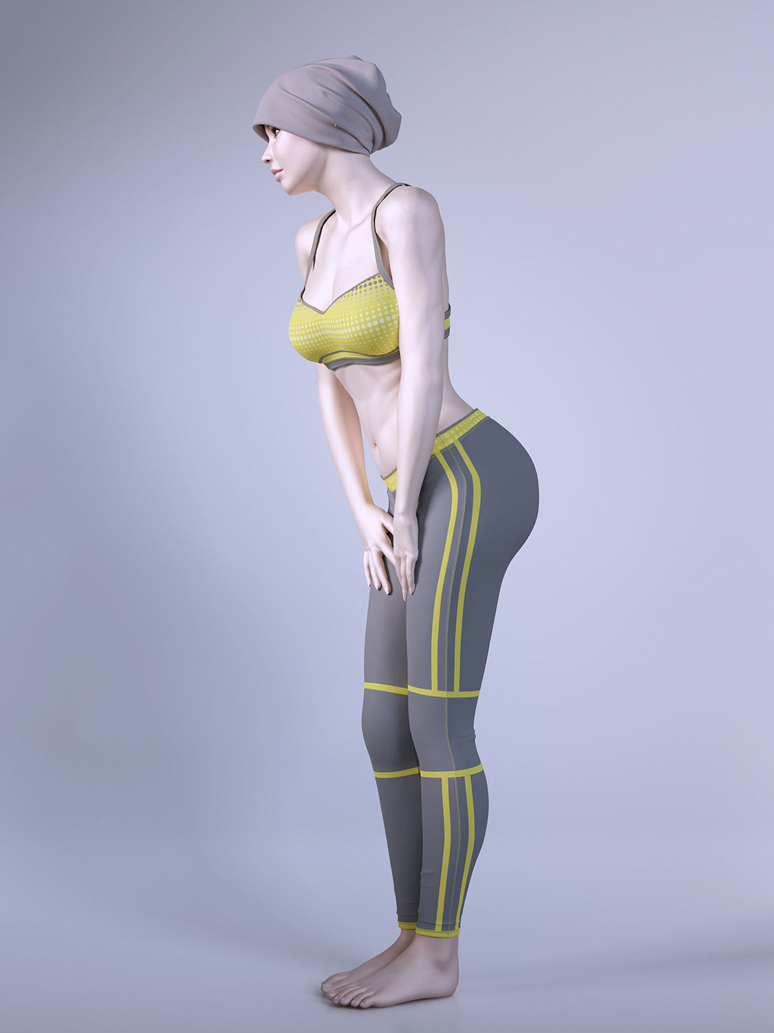 3d Models For Poser And Daz Studio: Female Fitness Instructor 3D Model .max .obj .fbx