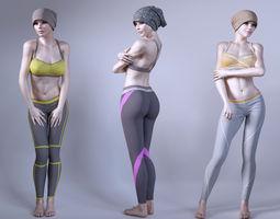 Female fitness instructor 3D Model