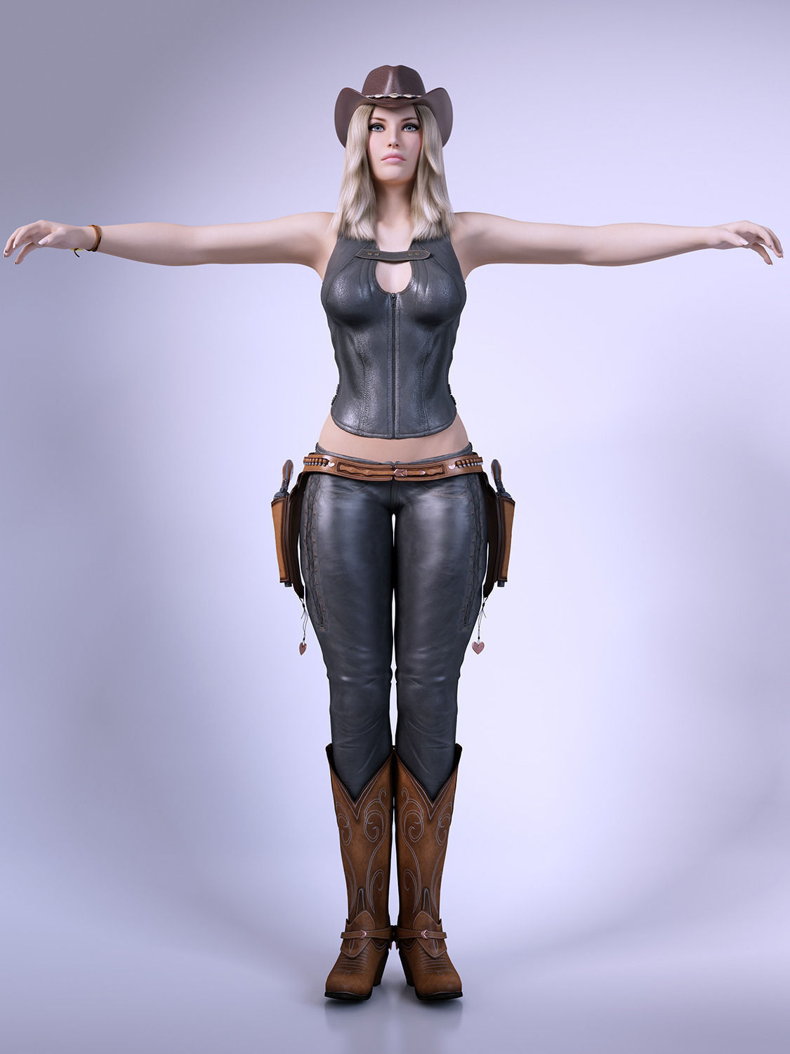 3d Models For Poser And Daz Studio: Cowgirl 3D Model .max .obj .fbx