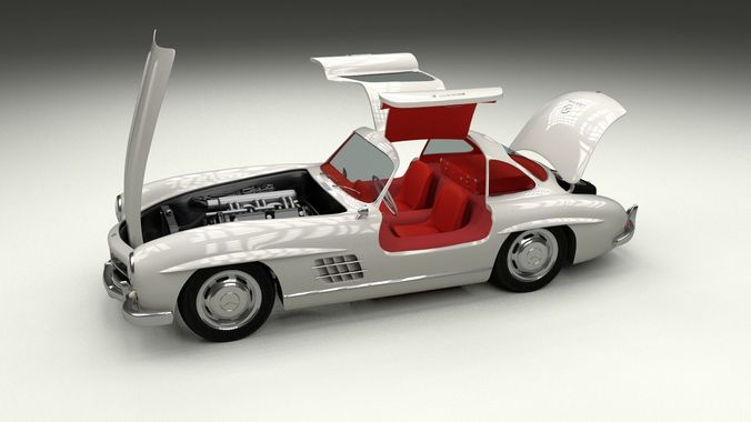 Fully Modelled Rigged Mercedes 300SL Gullwing3D model