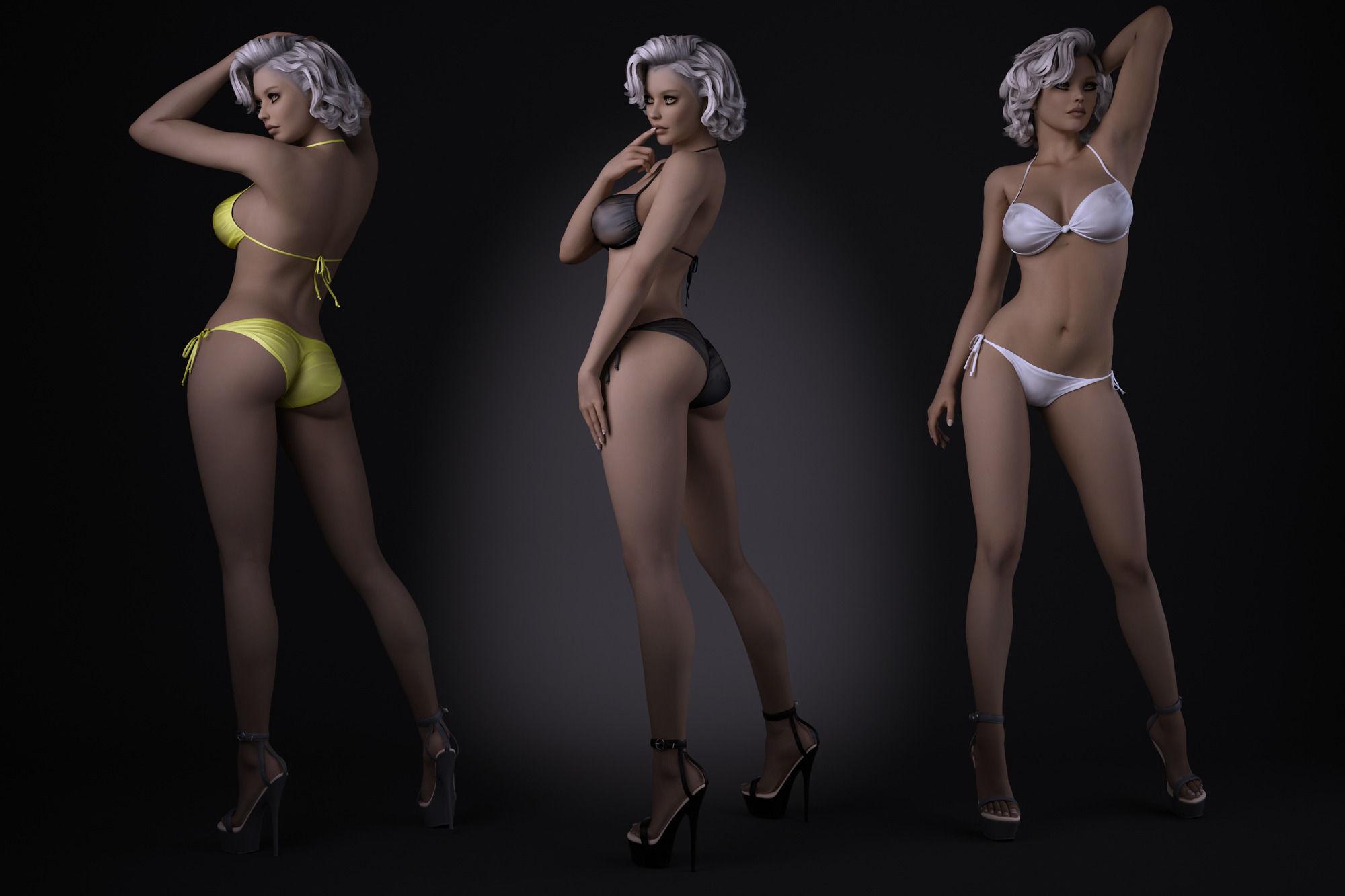 3d erotic model Back