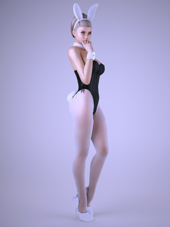 Bunny Girl 3d Model  Max  Obj  Fbx