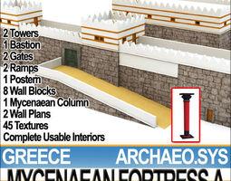 Greek Mycenaean Fortress A 3D Model
