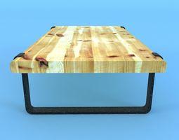 3D model iron table