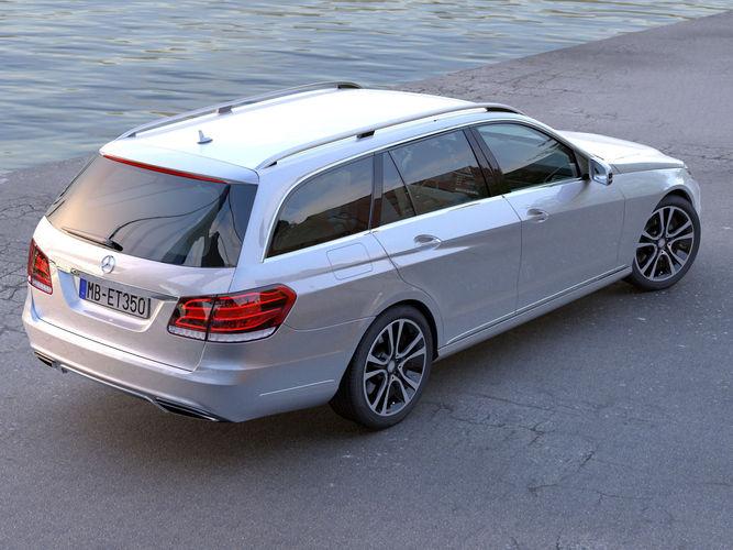 Mercedes benz e class t model 2014 3d model animated for Mercedes benz c class t model