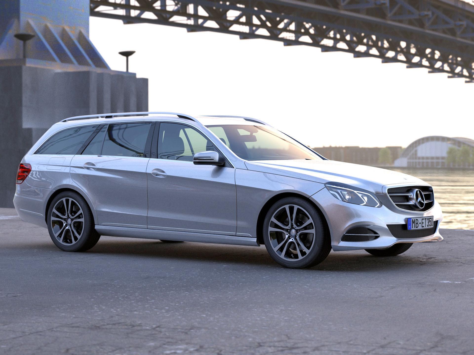 Mercedes benz e class t model 2014 3d model animated for Mercedes benz 2014 suv models