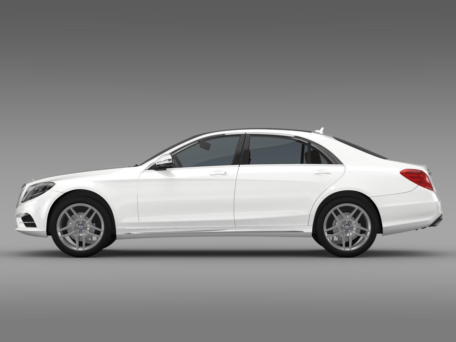 Mercedes benz s 300 lang bluetec hybrid v222 2016 3d model for Mercedes benz hybrid models