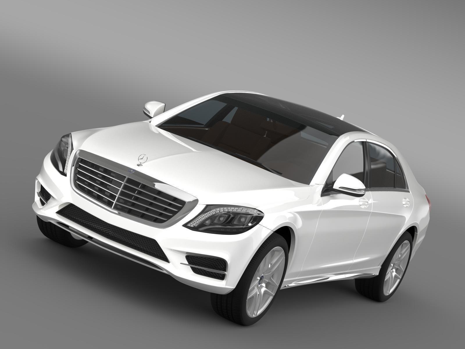 Mercedes benz s 300 bluetec hybrid w222 2013 3d model obj for Mercedes benz diesel models