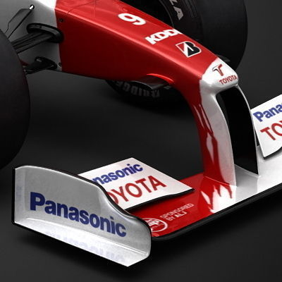2009 F1 Panasonic Toyota TF1093D model