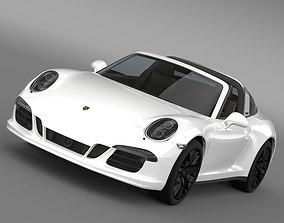 3D model Porsche 911 Targa 4 GTS 991 2015