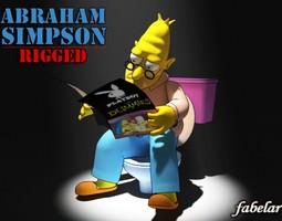 Abraham Simpson rigged 3D Model