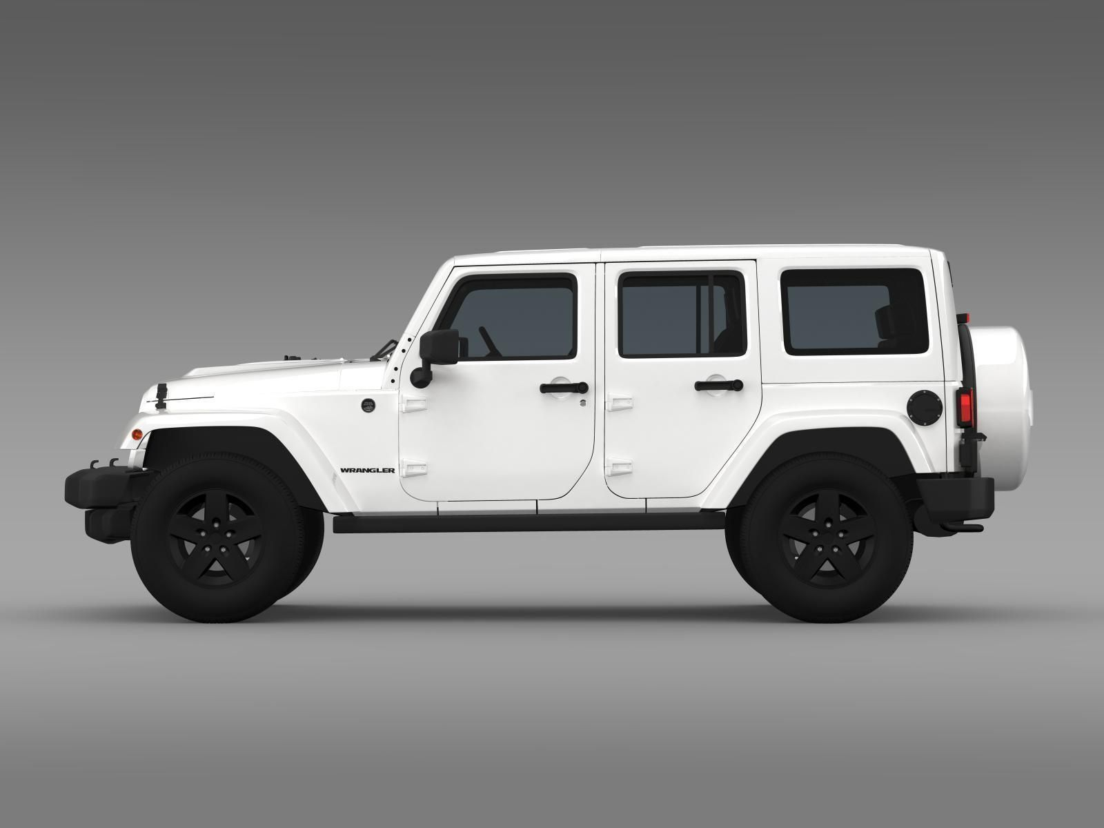jeep wrangler unlimited x 2015 3d model max obj 3ds fbx c4d lwo lw lws. Black Bedroom Furniture Sets. Home Design Ideas
