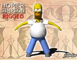 Homer Simpson rigged 3D Model