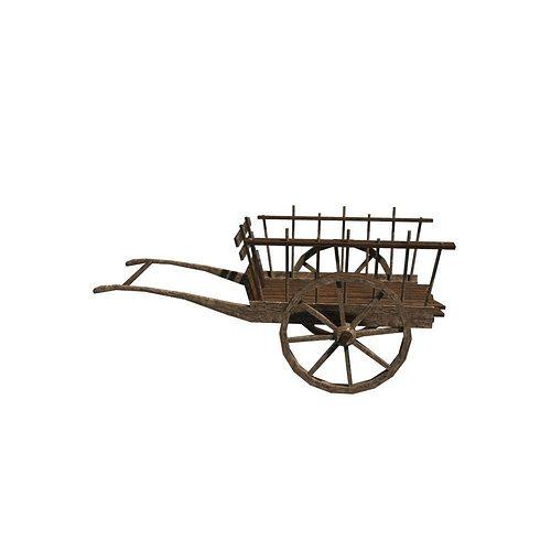 hand cart 3d model fbx ma mb 3