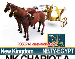 Ancient Egyptian Chariot A New Kingdom 3D Model