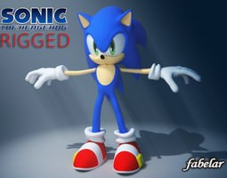 3d sonic rigged