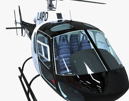 police helicopter 3d model fbx ma mb