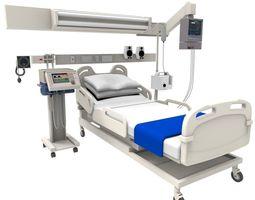 Hospital bed 3D asset