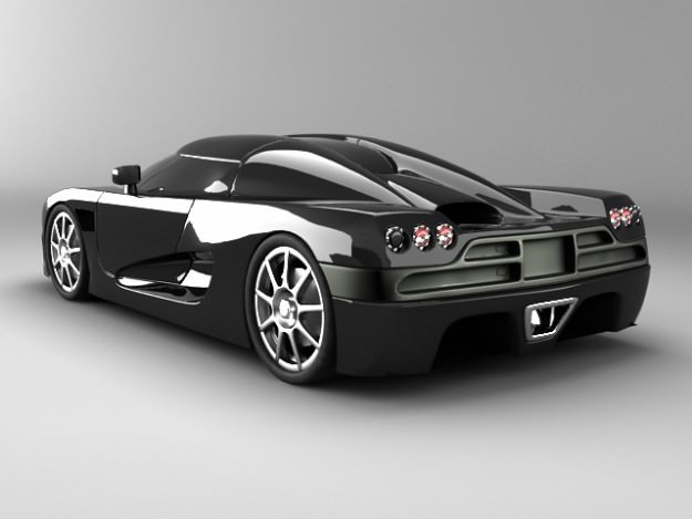 Koenigsegg CCX std mat3D model