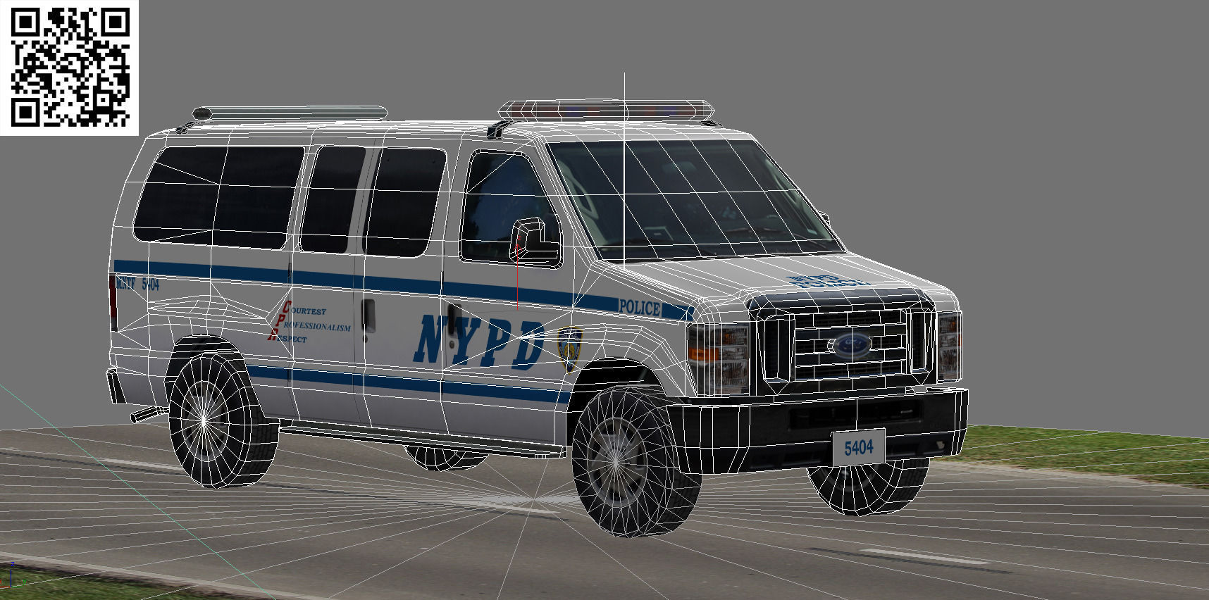 ford e 350 nypd police car 3d model game ready rigged max 3ds fbx. Black Bedroom Furniture Sets. Home Design Ideas