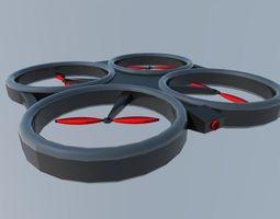 quadcopter 3D asset