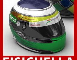 Adrian Sutil and Giancarlo Fisichella F1 Helmets 3D Model