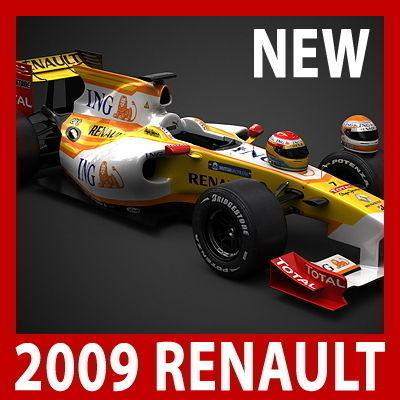 2009 F1 ING Renault R293D model