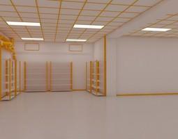 3D asset Facility interior