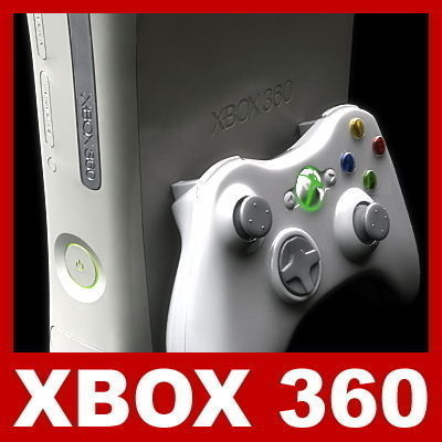 Xbox 360 and Controller3D model
