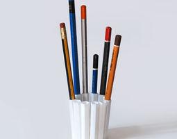 12 pencil pot 3d print model